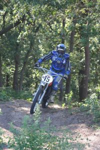 03 GD in action on the 1967 250cc Husqvarna June 2010