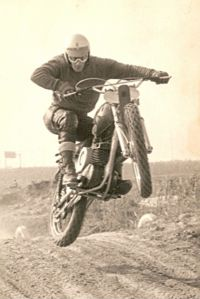 05 Gerrit Does in action on MX track of MC Amsterdam year 1969
