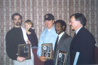 14 ABA Hall of Fame members fltr Gary Ellis jr Gary Littlejohn Anthony Sewell rip and Gerrit Does 1998