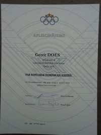 19 Merits in the Olympic movement award of Gerrit Does 2012