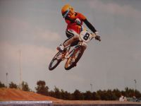 1980 Nico Does in action at the Waalre BMX track