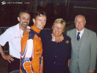 18 Pieter Does and Erica Terpstra National Olympic Committee Holland at the World Championships in 2004