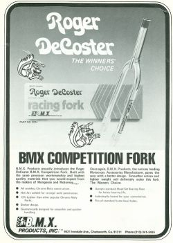 1978 mongoose brochure de coster forks scannen0032