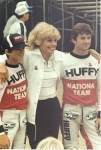 1983 Worlds Slagharen:Carlos (with cap) with his friend Erik Dukino and a HUFFY USA-representative