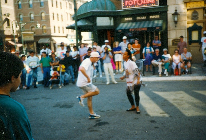 1990 Paul Roberts brackdancing during visit to Universal Studios in Orlando