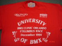 University of BMX class of 1991 team T-shirt