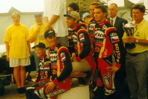 WEBCO-Mentos Euro BMX Team European Champion in 1999 Nico Does Team manager