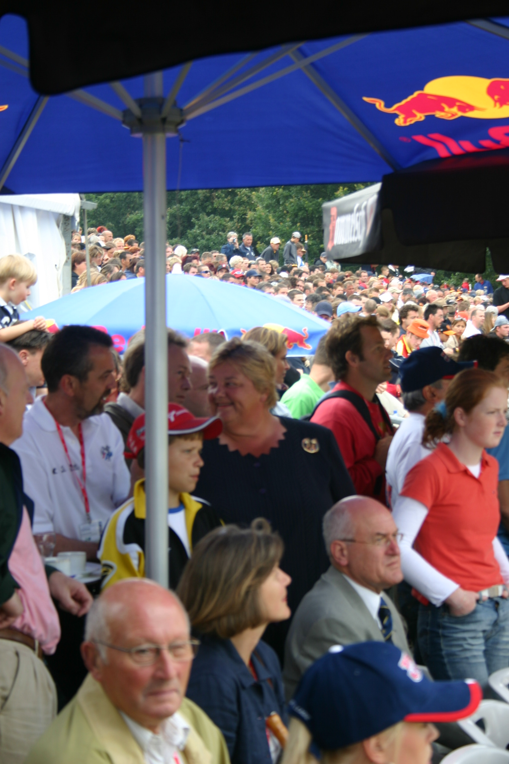 Mrs. ERica Terpstra, Chairman of the Dutch Olympic Committee, in the middle of the crowd