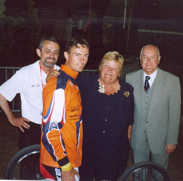 Pieter Does and Erica Terpstra Chairman of the National Olympic Committee of Holland