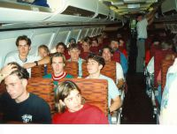 33 Again half the plane filled with BMX racers on their way to Columbus - Ohio