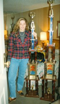 21 Corine with her 2 trophies won